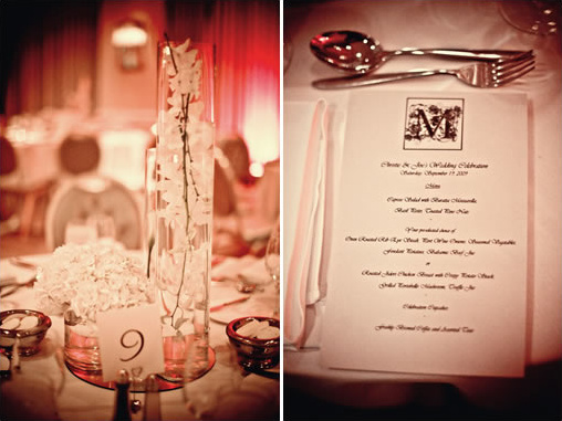 hollywood wedding menu