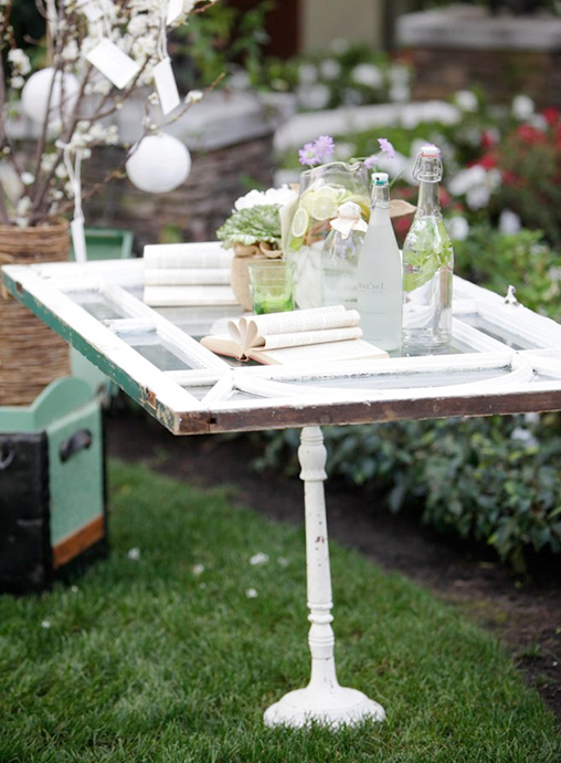 bridal shower drink station