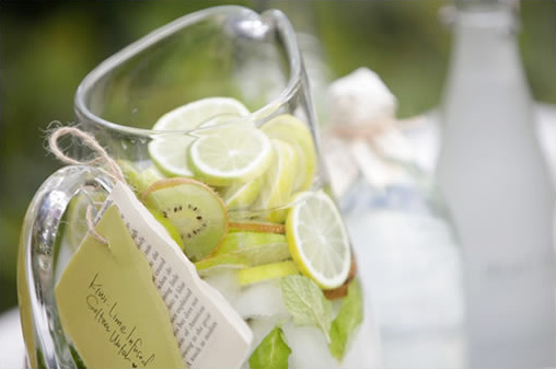 kiwi lime infused seltzer water