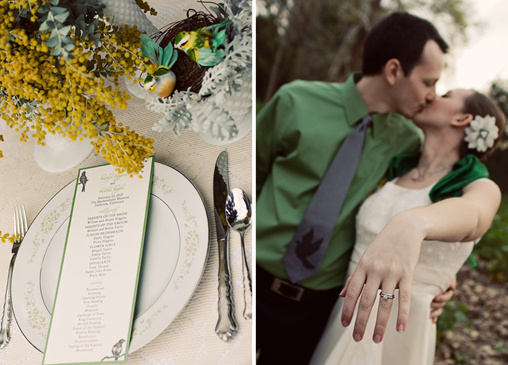 green and yellow wedding ideas