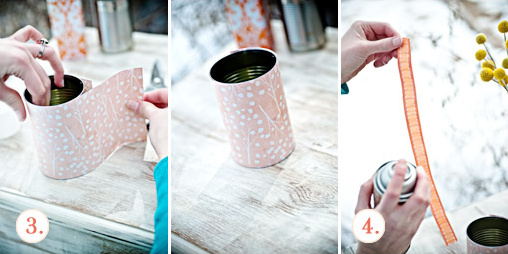 diy floral canisters