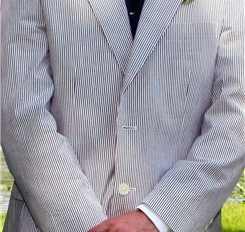Seersucker wedding suit