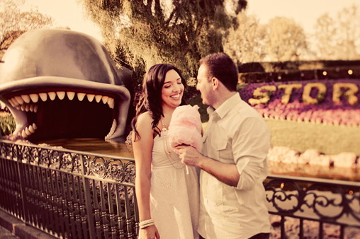 Disneyland engagement shoot