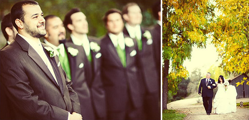 brown green wedding ideas