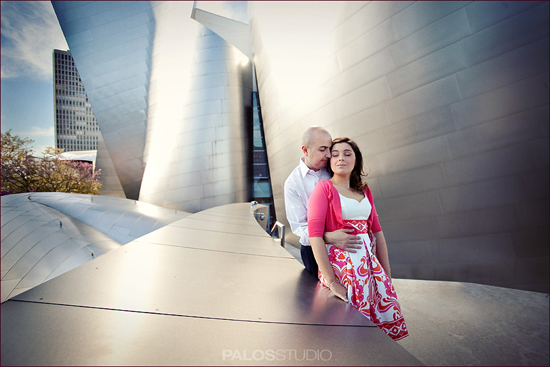 Disney Concert Hall Engagement Session | Palos Studio
