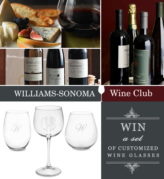 Win A Set Of Monogrammed Wine Glasses