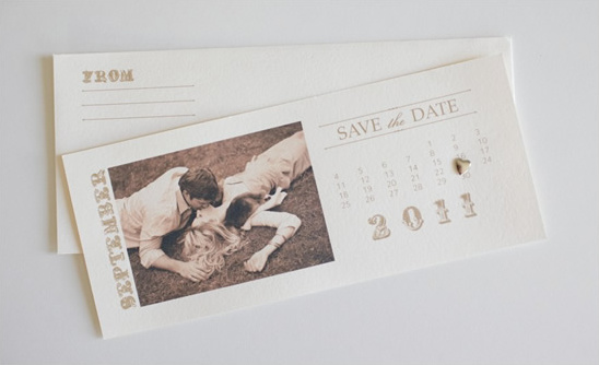 Free Photo Save the Date Calendar Cards