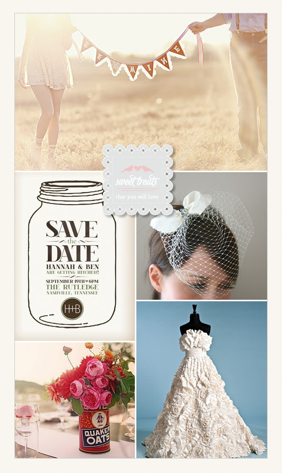 Sweet Treats + A Mason Jar Wedding