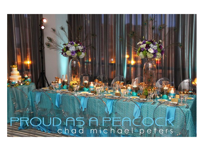 A Peacock Inspired Modern Wedding