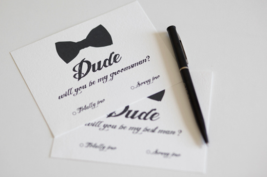 Bow Tie Will you be my Groomsman or Best Man Custom Download Cards