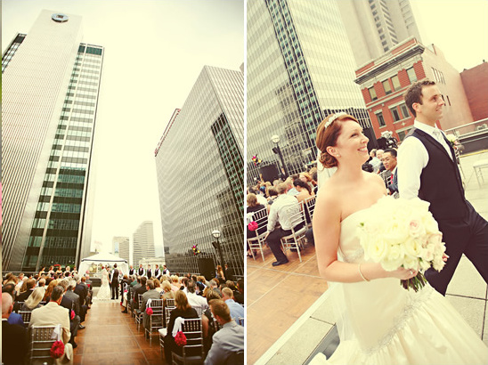 Damask Ohio Rooftop Wedding