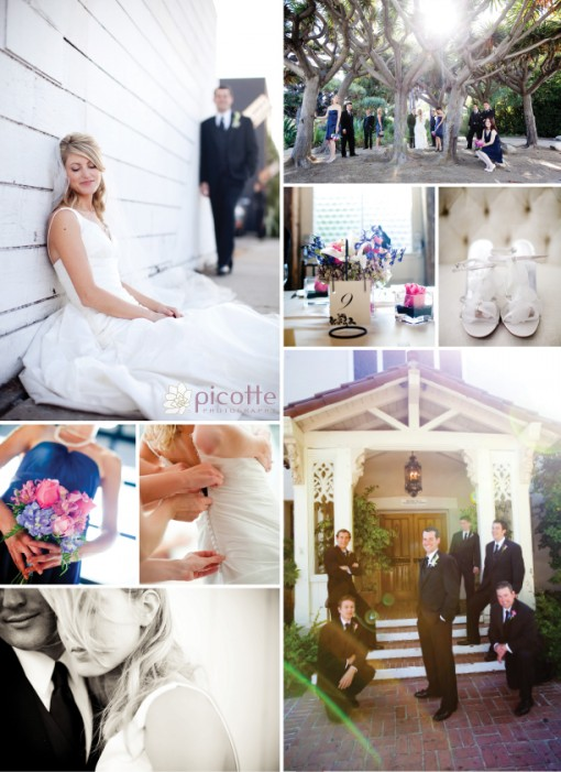a sweet and delicate wedding . picotte photography