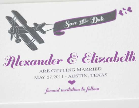 Airplane Custom Save the Date Free Download