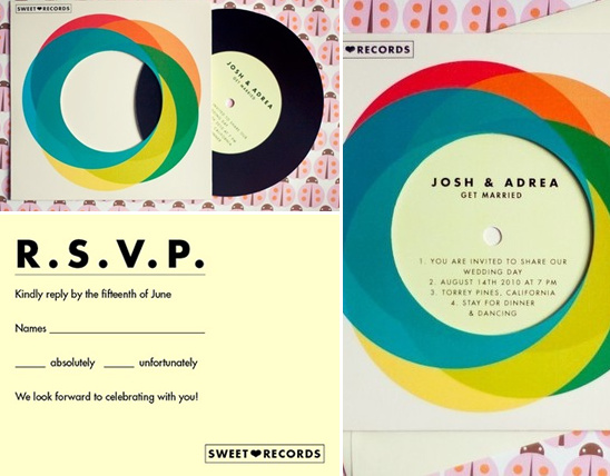 Record Wedding Invitations