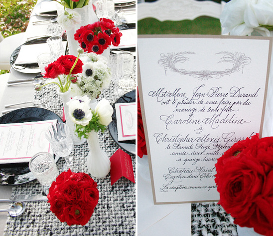 Black, White & Red Wedding Ideas