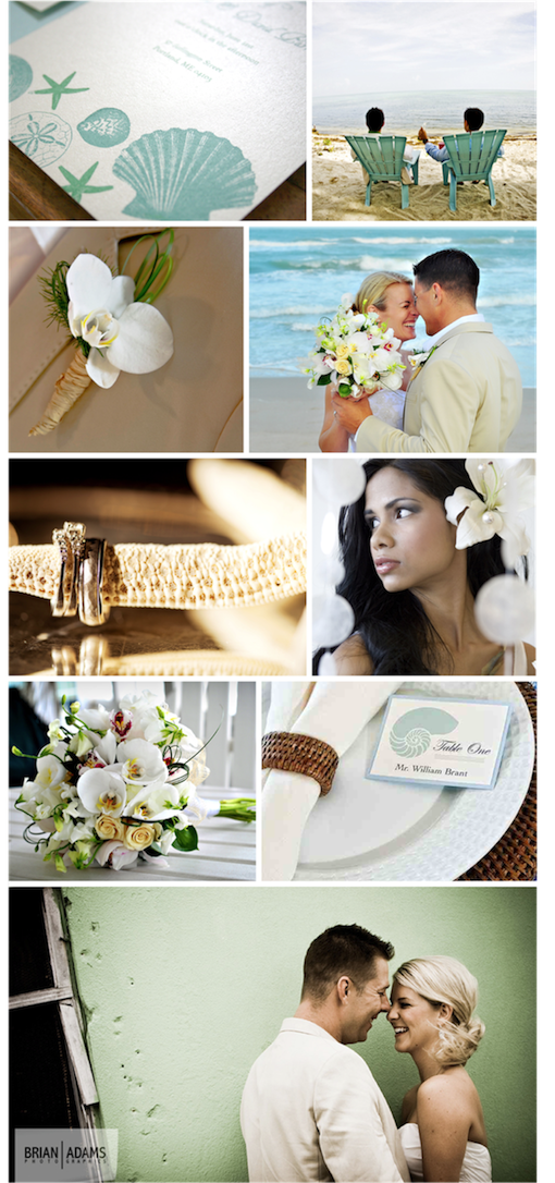 A Beach Inspiration from Real Weddings