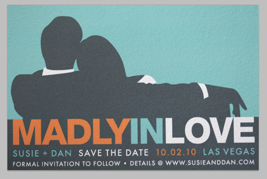 Blog - Mad Men Inspired Save The Date Invites Templates