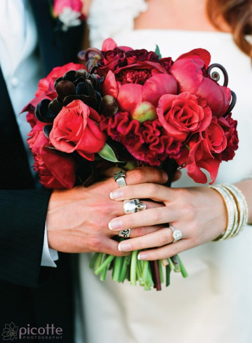 a jewel toned and urban wedding . picotte photography