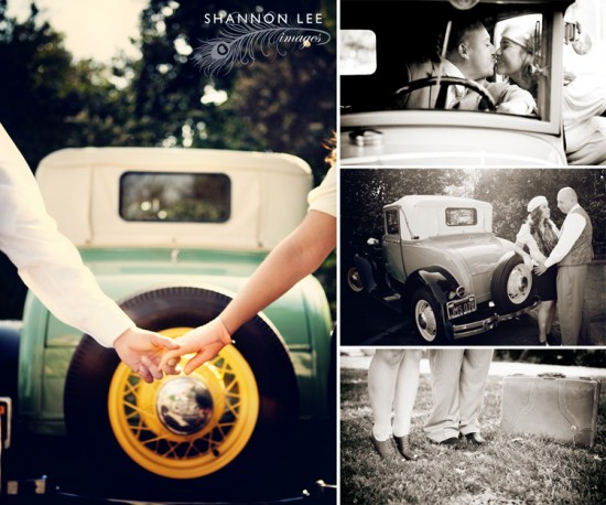 leslie & armando :: themed engagement session :: bonnie & clyde