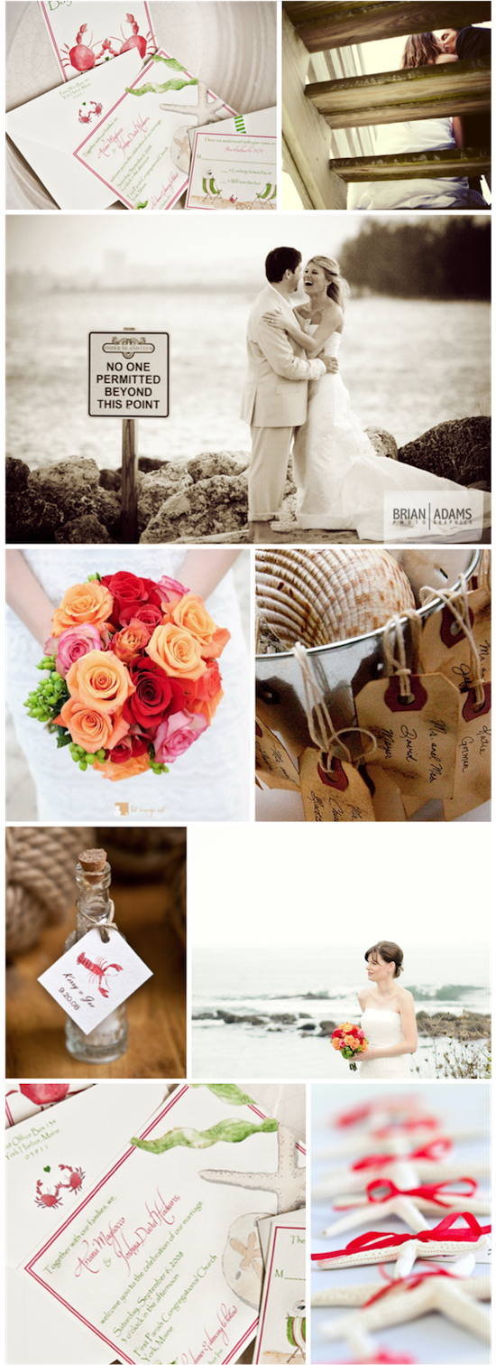 A Beach Inspiration | from Real Weddings
