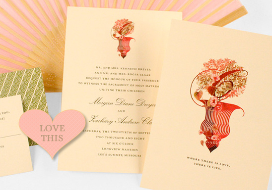 Classic English Luxury Wedding Invitations