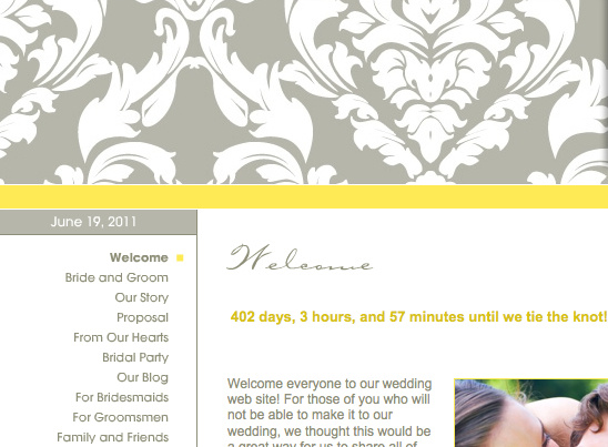 Enter To Win A 12 month Wedding Website