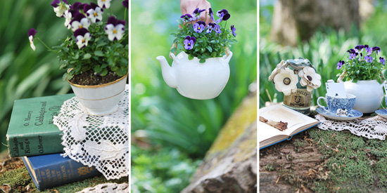 DIY Flower & Teacup Centerpieces