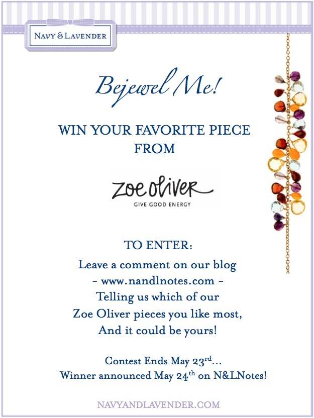 WIN IT!  Zoe Oliver Jewelry Giveaway at Navy & Lavender