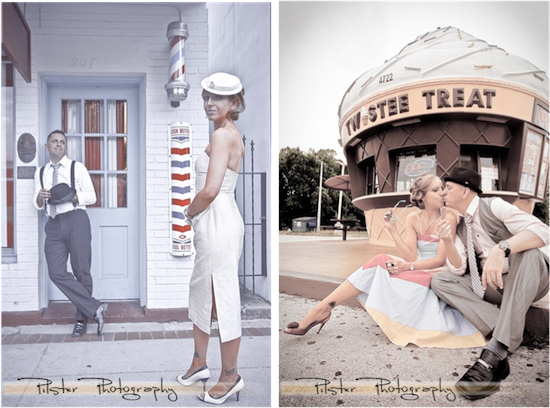 The Gator Motel | Vintage Engagement Session