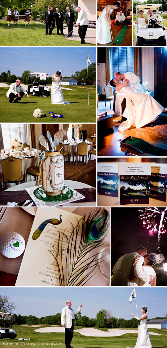A passion for golf scores big at Kerrie and Bill's wedding