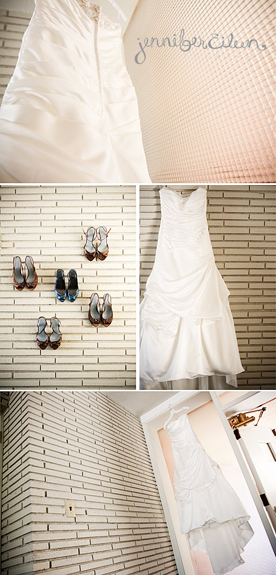 shoes, wedding dress, turqoise, brown