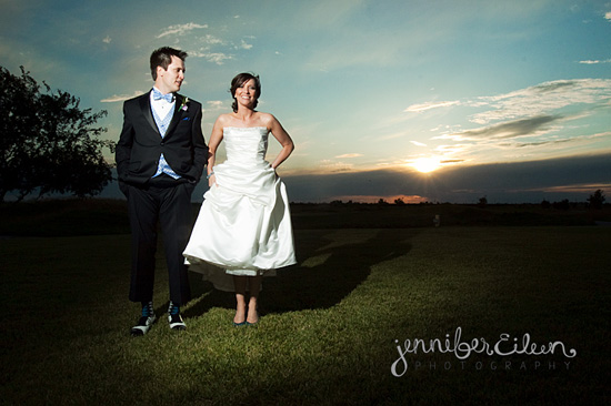 bride and groom, sunset, turqoise, tux, vest