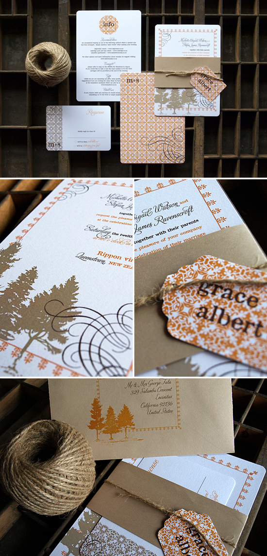Ruby & Willow | Winter Wedding Invitations