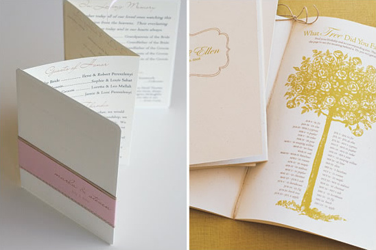 Martha Stewart Wedding Programs