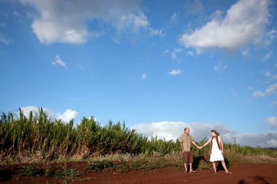 maui engagement session | rodeo arena + sugar cane field
