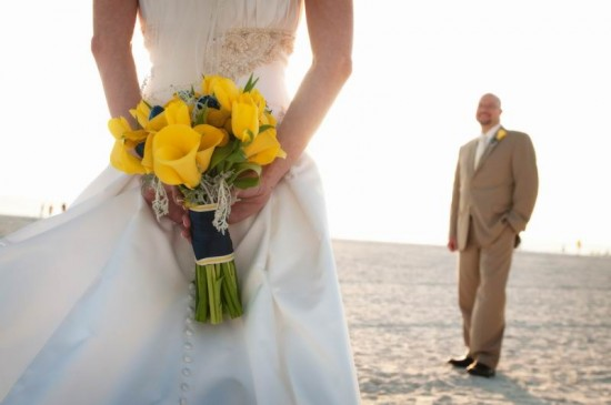 A Navy & Yellow Florida Wedding by MMD Events