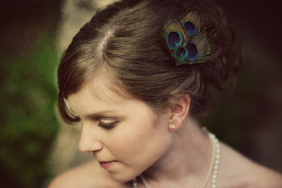 Lace, Pearls, and Peacock Feathers - Texas Bridal Session