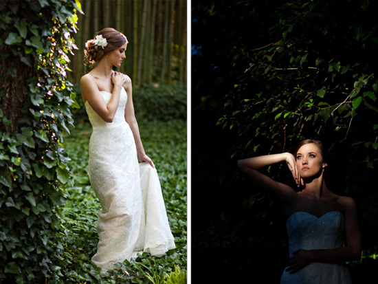 Stunning Light and a Lush Garden - Texas Bridal Session