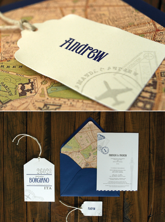 Ruby & Willow | Vintage Travel Invitations