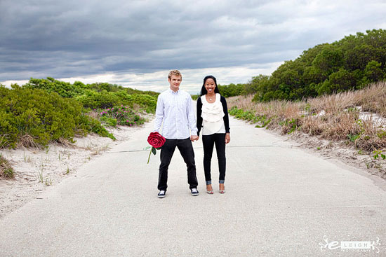 Fort Tilden Engagement Session by E. Leigh Photography