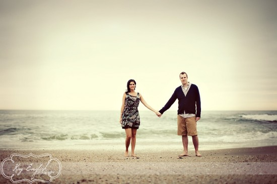 NJ shore engagement shoot
