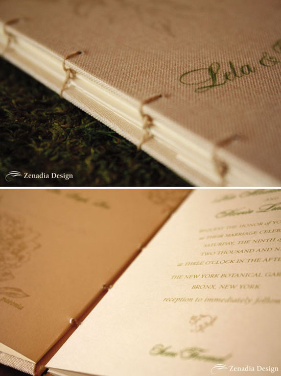 Vintage Garden Journal Invitation