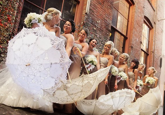 Rent Vintage Wedding Parasols