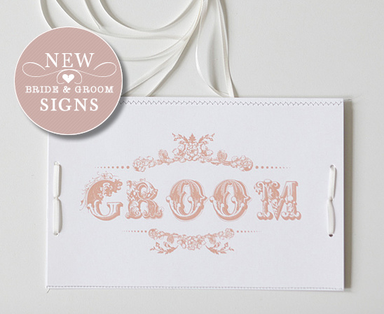 Vintage Bride & Groom Do It Yourself Signs