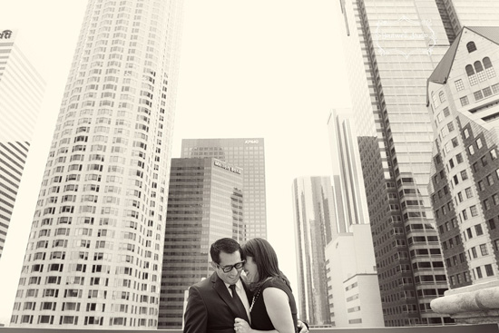 Downtown Los Angeles Engagement Session by Chenin Boutwell