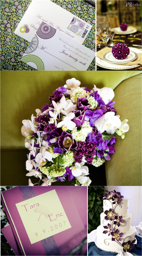 Purple and Green Inspiration | from Real Weddings
