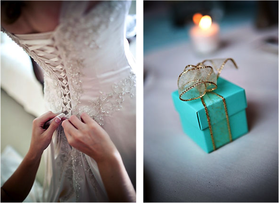 A Tiffany Blue and Gold Inspired Vintage Wedding
