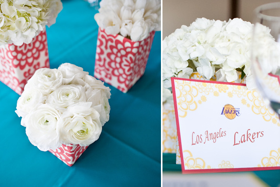 Yellow, Blue & Red All Over Wedding Details