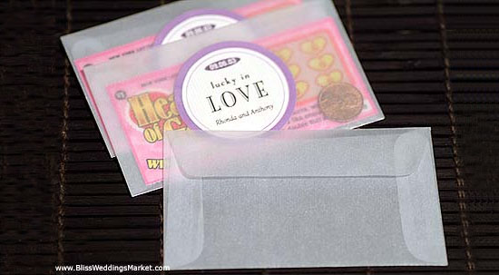 Lottery Ticket Weddings Favors