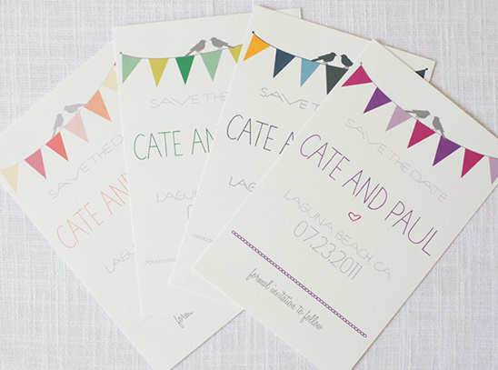 Bunting Do It Yourself Save the Dates